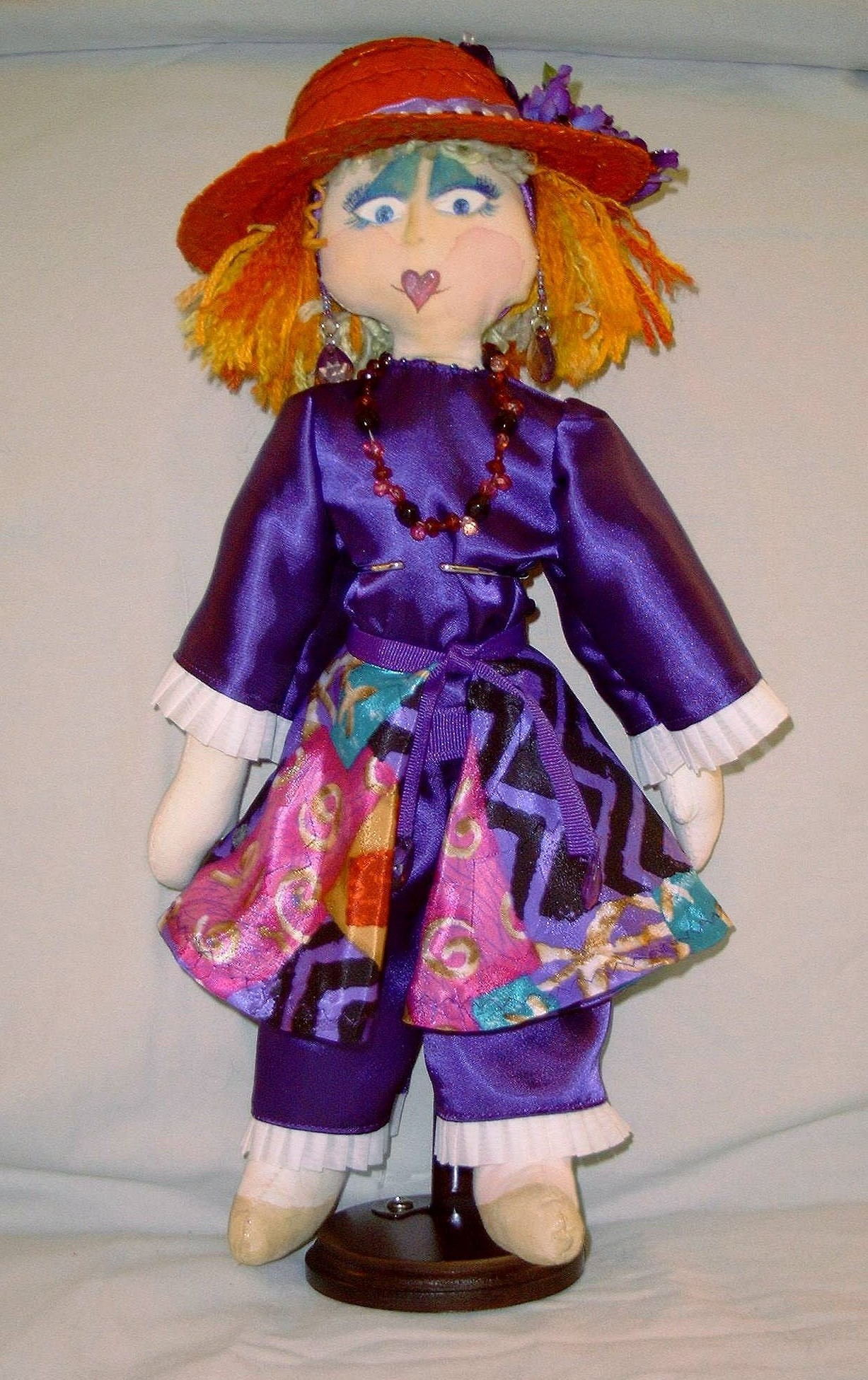 "Small Cloth Doll Red Hatter- 13"" - Product Image"