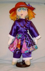 """Small Cloth Doll Red Hatter- 13"""" - Product Image"""