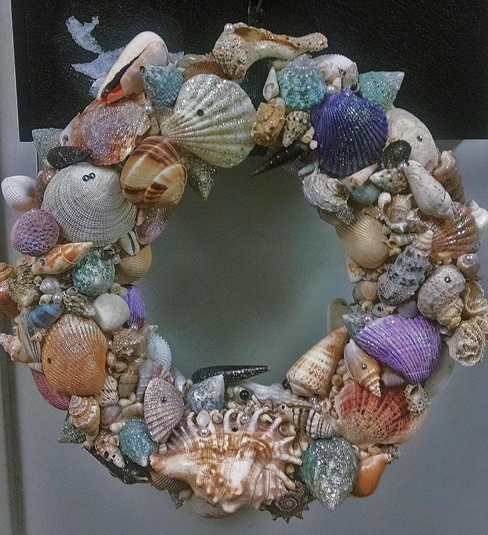 Summer Wreath - CUSTOM SEASHELL - Product Image