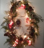 Winter Wreath - CUSTOM Grapevine with Owl - Product Image