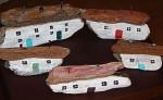 Driftwood Seaside Houses - Product Image
