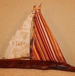 Driftwood Sailboat - Large - Product Image