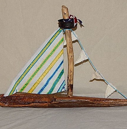 Driftwood Sailboat - Medium - Product Image