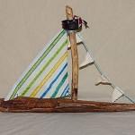 Driftwood Sailboat - Medium - Product Image