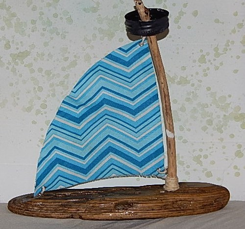 Driftwood Sailboat - Small - Product Image