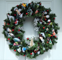 Hot Wheels Wreath - Faux Pine Bough - Product Image