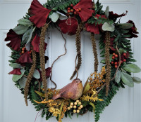 Resin Bird Wreath - Grapevine - Product Image