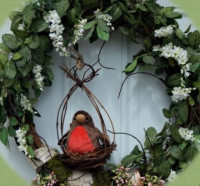 Spring Robin Wreath - Grapevine - Product Image